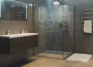 Tiled showers – one of the bathroom trends that works for everybody.
