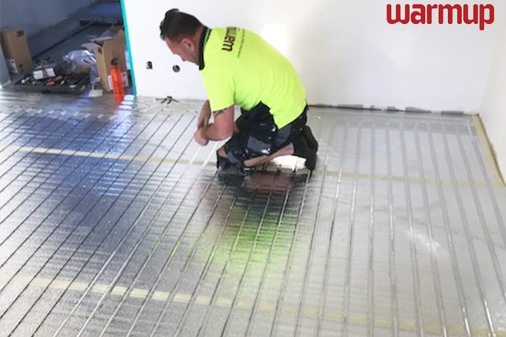 foil heating mats installation
