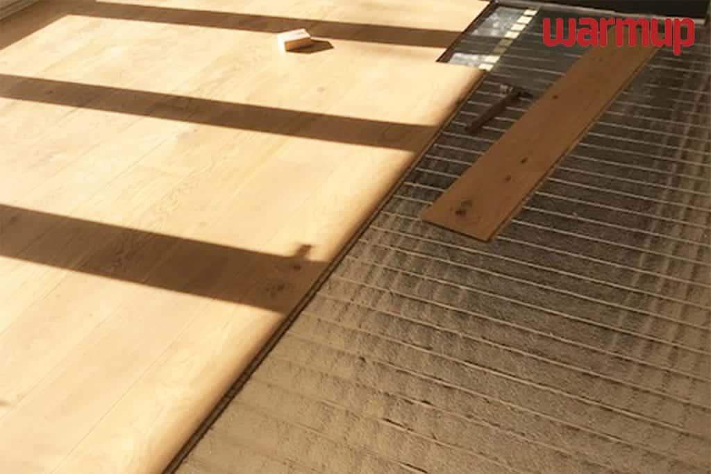 under laminate heating installation Warmup