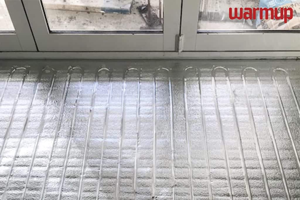 foil heating mats installed Warmup