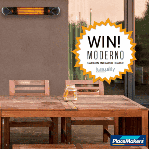 Moderno infrared heater giveaway - Warmup
