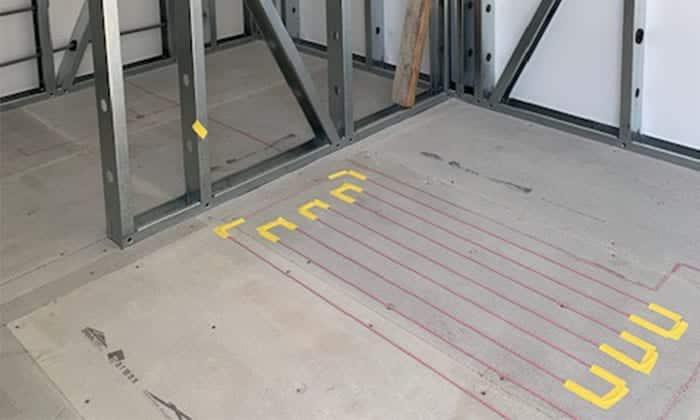 Underfloor heating installed