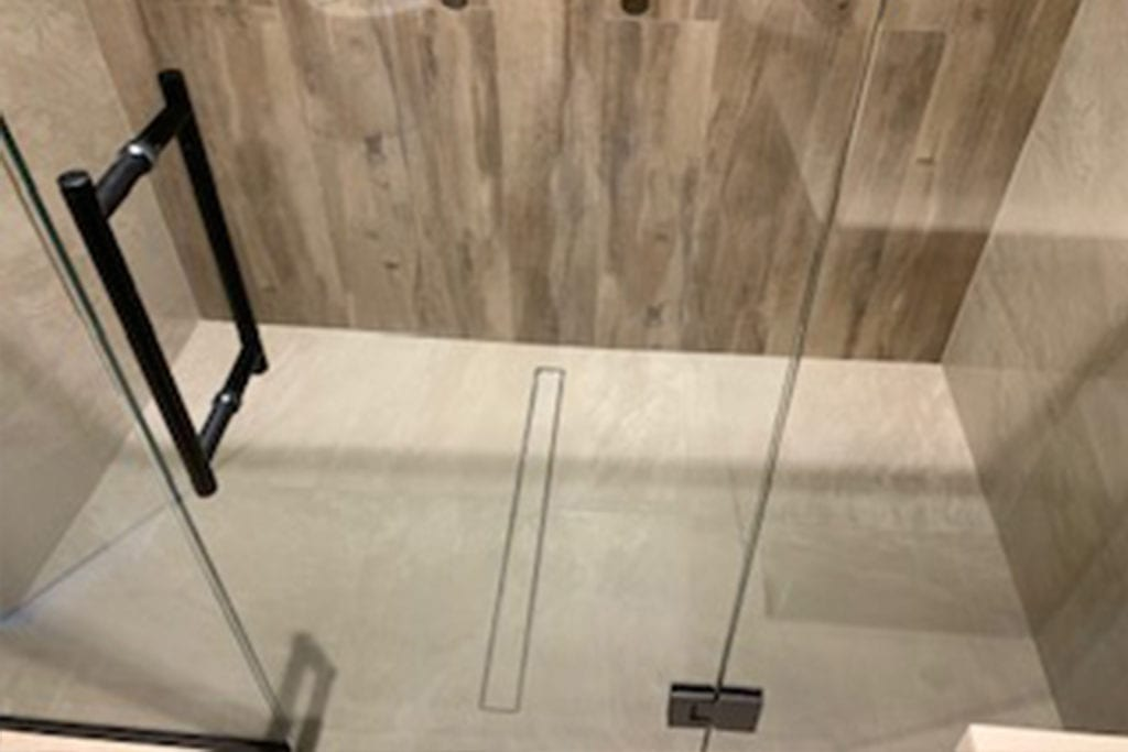 tiled shower installation by Warmup