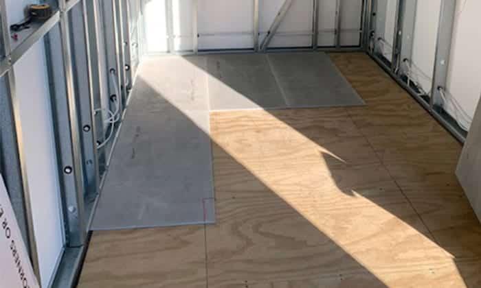 Marmox insulation boards installation on the wooden sub-floor