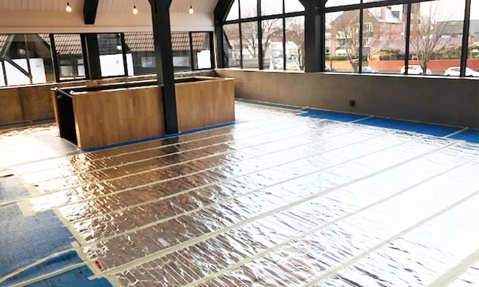 Warmup undercarpet foil heating mat installation
